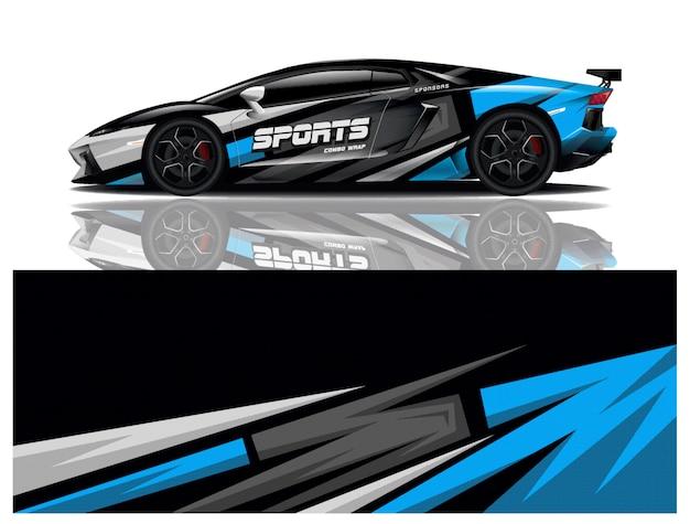 Sportwagen wrapping aufkleber design