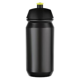 Sportwasserflasche. fahrradausrüstung schwarzer kunststoffrohling