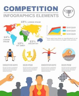 Sportwettbewerb infografiken