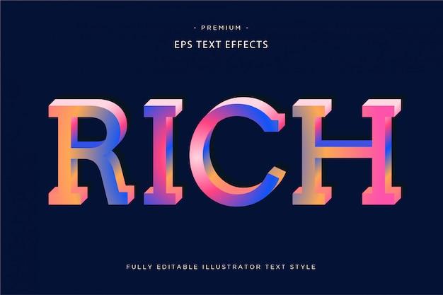 Spot-holographie-text-effekt-spot-text-stil
