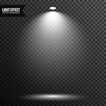 Spot-licht-beleuchtung bühne vektor transparent