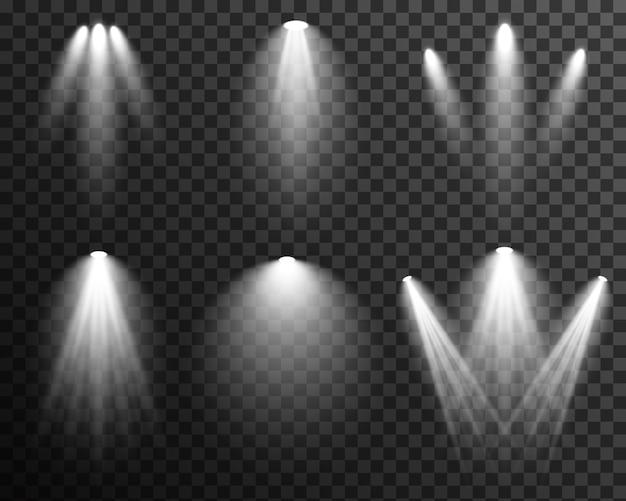 Spotlight beleuchtungssammlung bühne vektor transparent