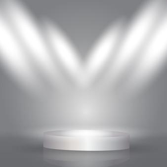 Spotlight-display-hintergrund mit präsentation podium