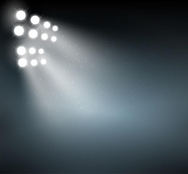 Spotlight hintergrund zeigen hintergrund. hellblaue leuchten abstrakte scheinwerferszene