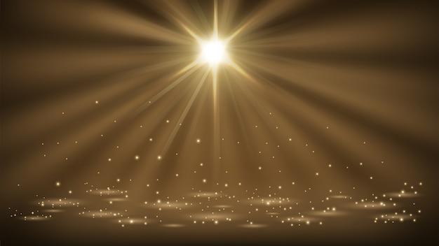 Spotlights glänzen mit 16: 9 seitenverhältnis