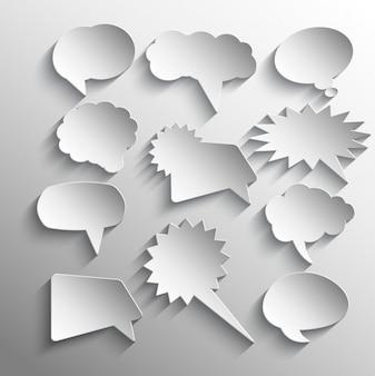 Sprache-luftblasen-aufkleber-sammlung