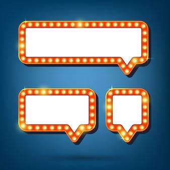 Spracheblase mit retro- licht gestaltet illustration