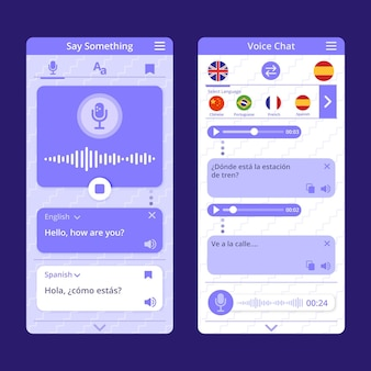 Sprachübersetzer-app-konzept