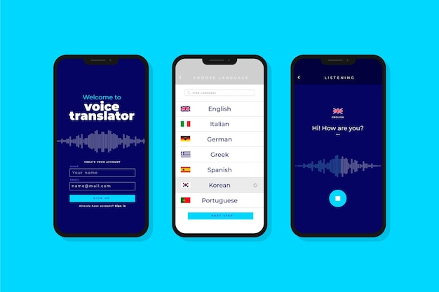 Sprachübersetzer-app
