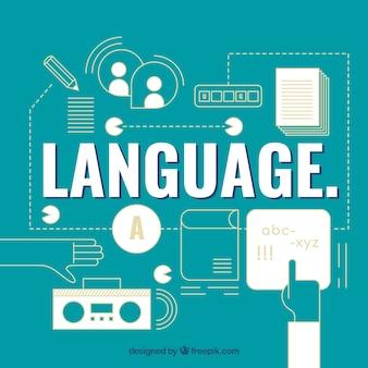 Sprachwort-konzepthintergrund