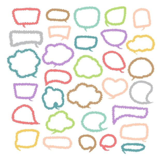 Sprechblase geschnittene papier-design-vorlage vektor-illustration für ihr unternehmen