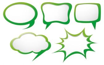 Sprechblase Vorlage mit grünem Rahmen