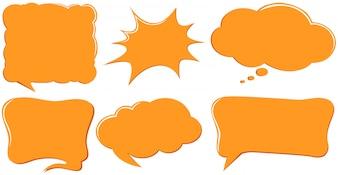 Sprechblase Vorlagen in orange Farbe