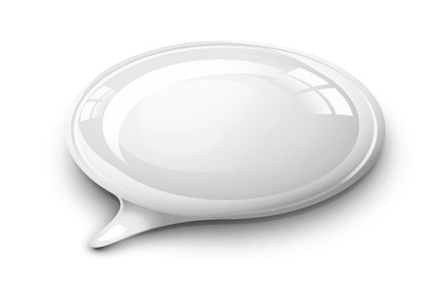 Sprechblase weiße und glänzende abbildung