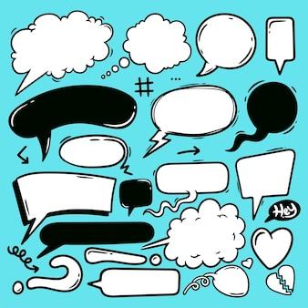 Sprechblasen handgezeichnete linie art vector doodle