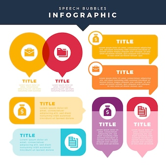 Sprechblasen infografiken