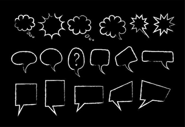 Sprechblasen-kreidemarkierungs-stilsatz