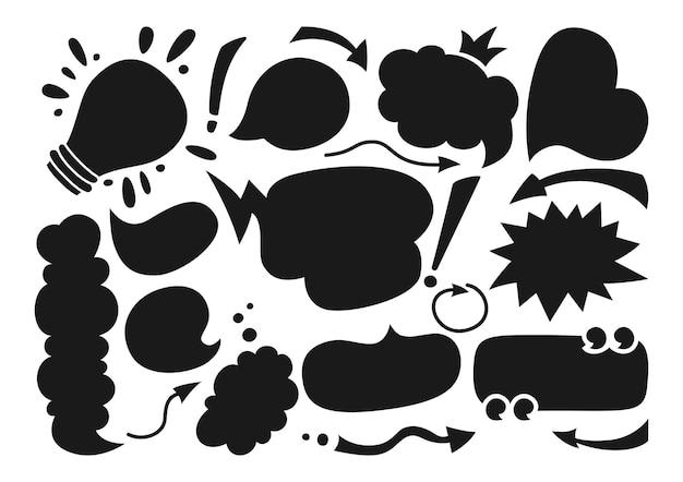 Sprechblasen leeren leere flache karikatursatz