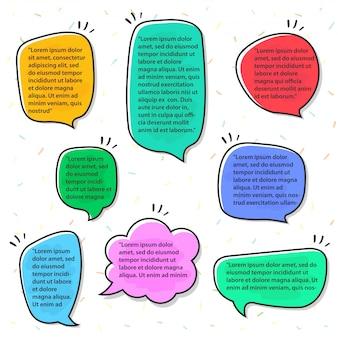 Sprechblasen mit verschiedenen farben