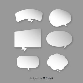 Sprechblasen-sammlung im papierstil