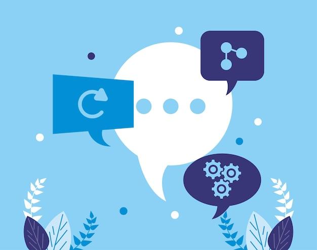 Sprechblasen zur kommunikation