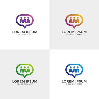 Sprechen sie apps, telefon, forum, kommunikation, technologie-logo