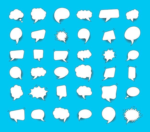 Sprechen sie blasentext, chat-box, nachrichtenbox, gliederungs-cartoon.