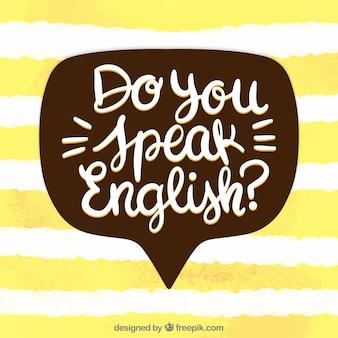 Sprechen sie englisch konzept?