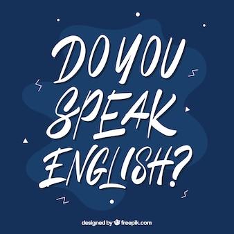 Sprechen sie englische frage mit hand gezeichnetem stil