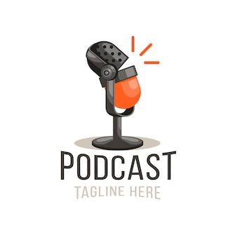 Sprechende mikrofon-logo-vorlage