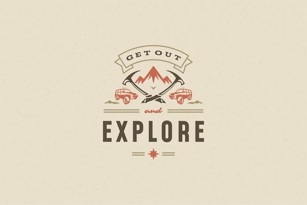 Sprichwort zitat typografie mit handgezeichneten 4x4 offroad auto symbol für grußkarte oder poster und andere.