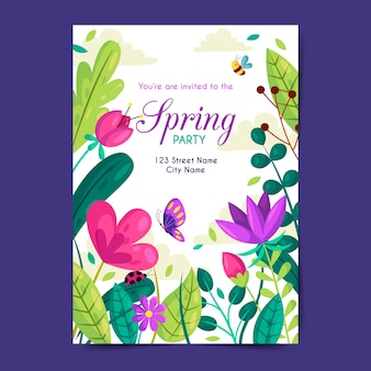 Spring party plakat vorlage