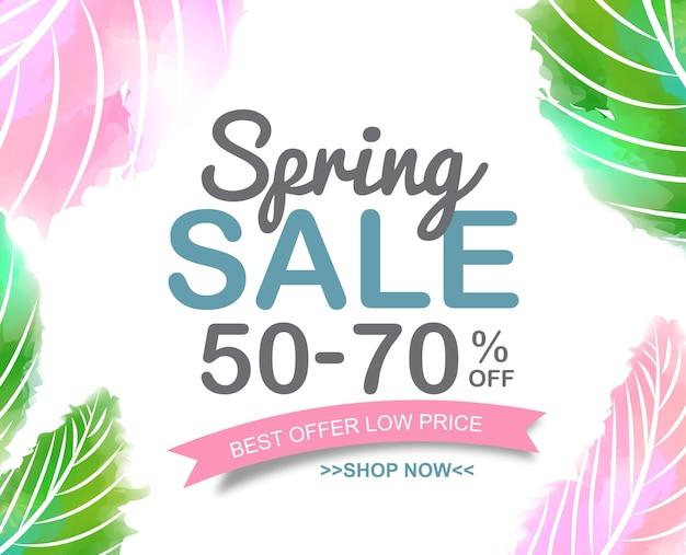 Spring sale banner poster.