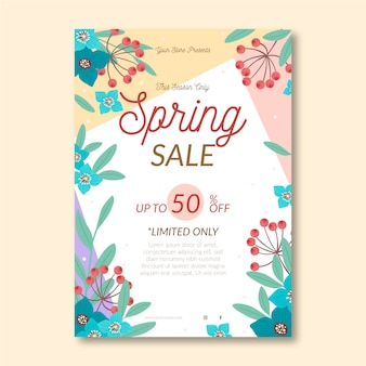 Spring sale flyer vorlage