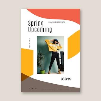 Spring sale flyer vorlage