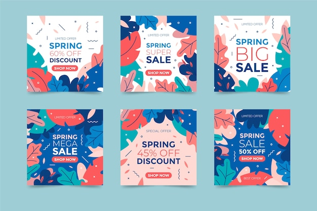 Spring sale instagram post sammlung