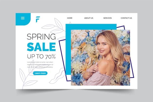 Spring sale landing page-konzept