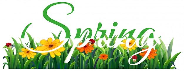 Spring schriftzug