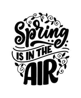 Spring time schriftzug