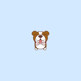 Springende ikone des netten bulldoggenwelpen