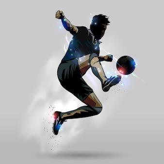 Springender notenball 02 des fußballs