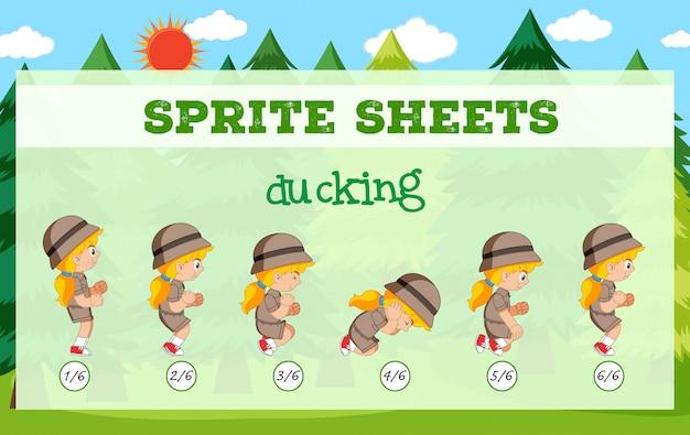 Sprite sheets ducking vorlage