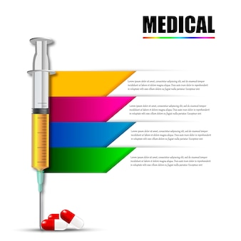Spritze mit nadel und medizin