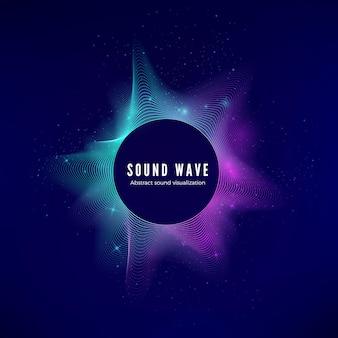 Spritzer digitaler audiodaten. sound waves visualisierung. equalizer für elektronische musik.