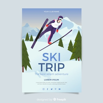Sprung ski ausflug poster