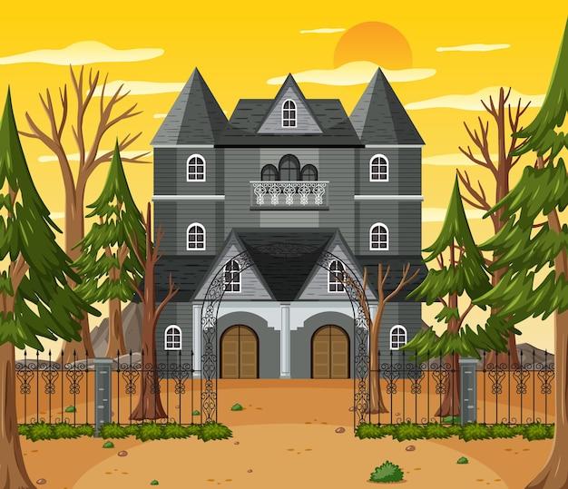 Spuk-halloween-villa am tag