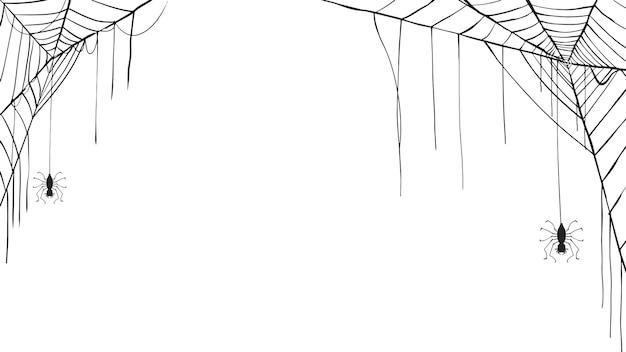 Spuk spinnennetz silhouette sammlung von halloween