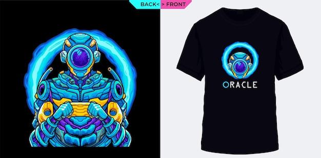 Squad game oracle als game strategist mit gelbem roboterkostüm passend für gaming-themenkleidung
