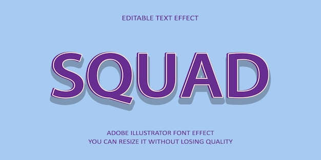 Squard editable text effect schrift