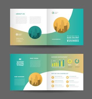 Square business bifold broschüre